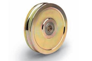 product: Double Bearing Sliding Gate Wheels with Lubricator Pin