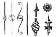 Italian Wrought Iron Components